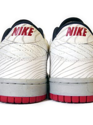 Lazy Casket Dunk Low – White Carved Version