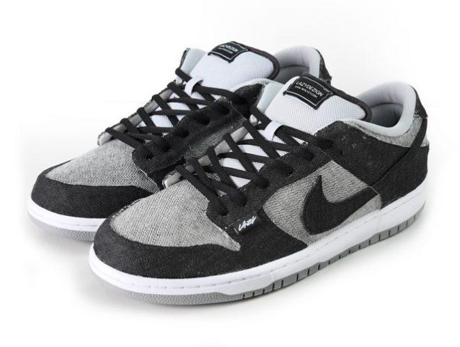 akalazy lazything medicom dunk custom sneaker