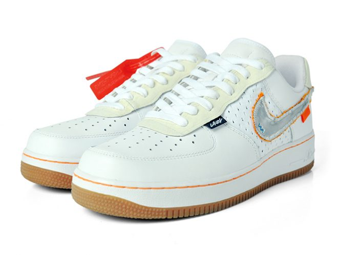akalazy lazything lazy off white air force 1 custom sneaker