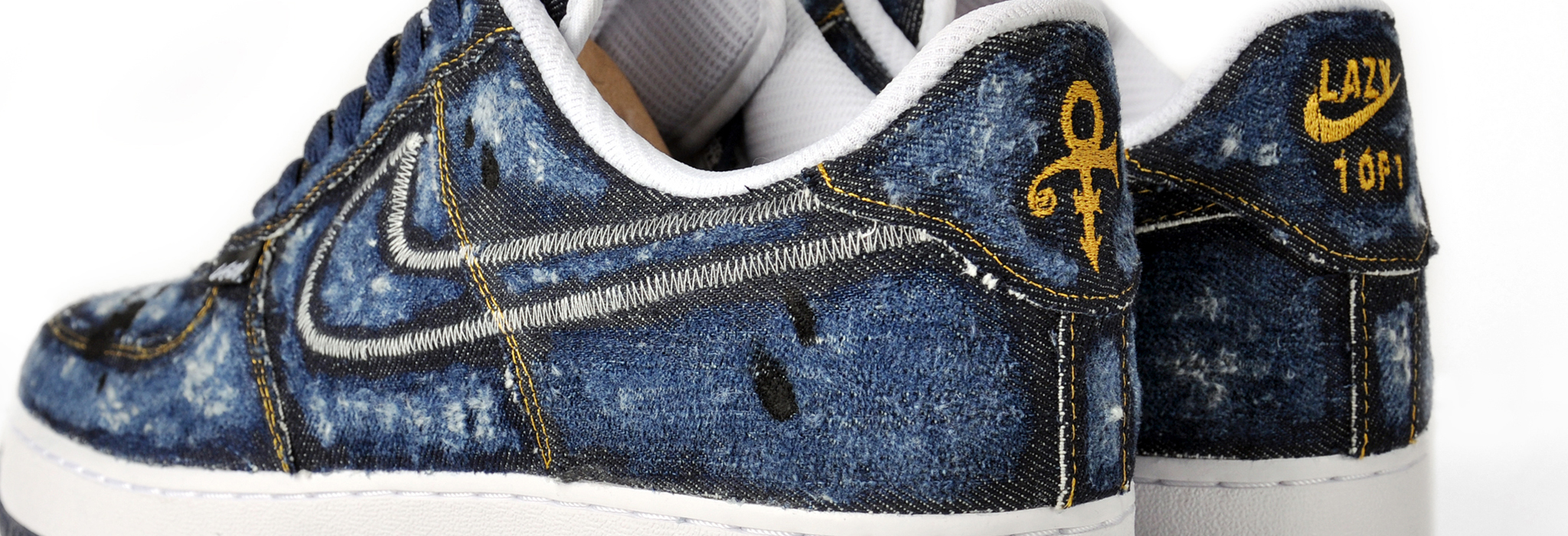 akalazy lazything denim air force 1 custom sneaker